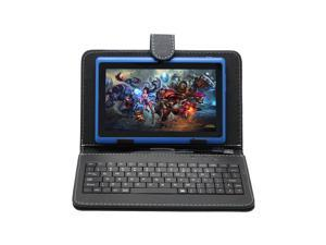 "IRULU 7"" Android 4.2 Jelly Bean Tablet PC with Keyboard Case Dual Core CPU 8GB Flash (Blue PC & Black Case)"