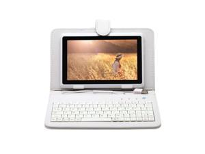 """New iRulu 7"""" Android 4.2 Jelly Bean Tablet PC with Keyboard Case Dual Core CPU 8GB Flash (White PC & White Case)"""