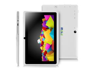 IRULU X1s Basics & Beyond 7 Inch Android 4.4 KitKat Tablet with GMS Certification,1024*600 HD Resolution, Quad Core RAM 512MB ROM 8GB - White