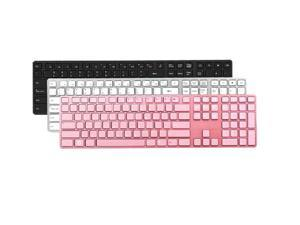 i-rocks KR-6402-WH White Wired Aluminum X-Slim Keyboard for PC