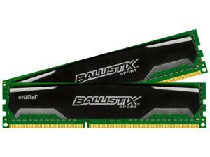 New Crucial Ballistix Sport 16GB Kit 8GB x2 DDR3 1333 MHz PC3-10600 CL9 1.5V Memory