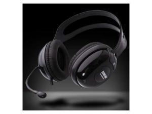 Computer PC Laptop Notebook OnEar Headphone Headset w/ Microphone Black/Silver