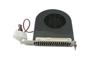 New 2 x SYSTEM BLOWER CPU CASE PCI SLOT FAN COOLER FOR PC