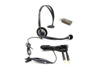New Plantronics Audio 50 Analog & USB Headset for Gaming Chat PC MAC