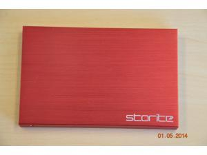 Storite 750GB FAT 32 Portable External Hard Drive- Red