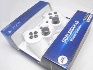 New Bluetooth Wireless Dual Shock 3 Six Axis Game Controller for Sony PS3 White