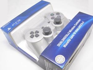New Bluetooth Wireless Dual Shock 3 Six Axis Game Controller for Sony PS3 Silver