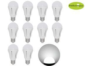 10 Pieces LED Light Bulbs 12w A19 / A60 6000-6500K Cool White E26/E27 AC110v 100 Watts Incandescent Equal Bathroom Use 2 ...