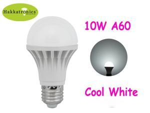 HAKKATRONICS 10W LED BULB LAMP LIGHT E26/E27 A19/A60 6000-6500K COOL WHITE 75 WATTS REPLACEMENT