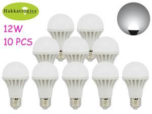 10X 12W LED BULB LAMP LIGHT E26/E27 A19/A60 AC120V 6000K COOL WHITE 100W INCANDESCENT BULB REPLACEMENT