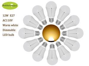 12 pieces 12W A19/A60 E26/E27 AC120V  warm white 3000k led bulb lamp light