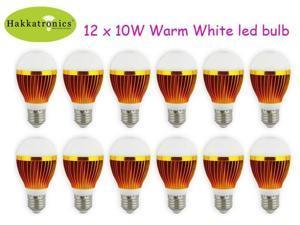12 Pieces 10 Watt A19/A60 E26/E27 AC110V/AC120V Warm White 3000K Globe LED bulb lamp light