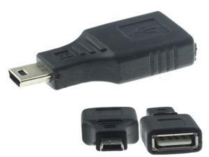 2 X USB A Female to Mini USB B 5 Pin Male Adapter Converter NEW