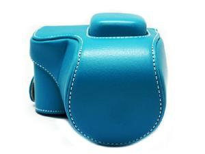 Westlinke Compact Digital Camera Case for Sony NEX-5T NEX5T 5T PU Leather Camera Bag Cover Fit for 16-50mm Lens-Blue