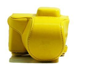 Westlinke Compact Digital Camera Case for Sony NEX-5T NEX5T 5T PU Leather Camera Bag Cover Fit for 16-50mm Lens-Yellow