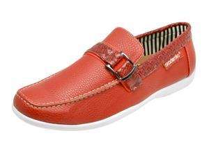Akademiks A-2671 Men's Ryan Slip-On Loafers - Red