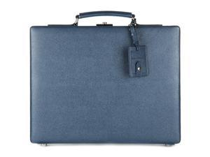 DOLCE&GABBANA BRIEFCASE ATTACHÉ CASE LAPTOP PC BAG LEATHER BLUE