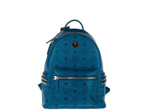 MCM WOMEN'S RUCKSACK BACKPACK TRAVEL  STARK BLUE