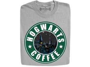 Stabilitees Wizards Coffee Shop Crew Slogan Men's T Shirts - Sports Grey