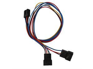 TeKit New PC Motherboard Fan Cooling 4-Pin to 2x 4pin/3pin PWM Extension Adapter Cable (30cm),PC Motherboard Fan Cooling ...