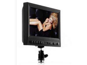 Tekit 8 Inch On-Camera HD DSLR Monitor (1080P, HDMI, VGA, 10 Hours working time) HDMI, VGA and composite video inputs