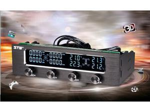 Tekit 5.25 4 Channel CPU fan speed controller with LCD