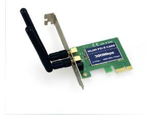 Tekit Wireless Adapter IEEE 802.11b/g/n PCI Express 300/300Mbps Transfer/Receive Rate 2T2R 64-bit/128-bit WEP, TKIP, and ...