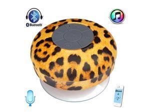 Waterproof Leopard Bluetooth Wireless Shower Speaker Portable Speakerphone