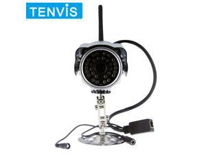 TENVIS Wireless/Wifi/Wired Outdoor IR Night Vision Waterproof Security Surveillance IP Camera with Motion Detection Remote ...