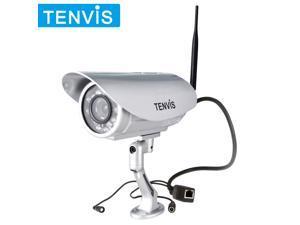 TENVIS Plug&Play H.264 HD Outdoor Waterproof 720P Built-in IR Cut Night Vision Bullet IP Camera Wifi Webcam Motion Detection ...