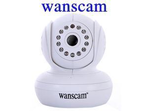 "Wanscam Wi-Fi P2P/PNP MJPEG 1/4"" Color CMOS Sensor, 640*480 Resolutions, 3.6mm Len, 13 IR LED 30' (10M) Night Vision Pan ..."