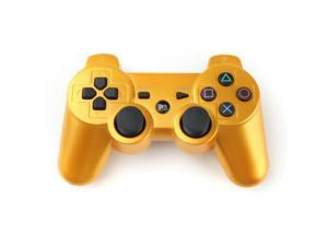 Oceantree new Factory direct sale Dualshock 3 Wireless Controller Player for playstation 3 PS3(gold)