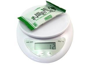 new white electronic scale LCD digital display screen kitchen electronic scale mini scale