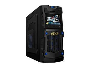 oceantree ATX MicroATX Mini Tower Computer Case with Dual 12cm Fan, 2x USB2.0 power supply
