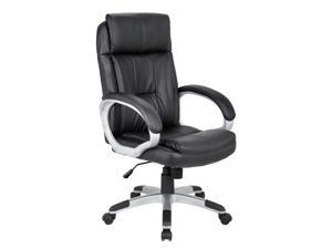 EXECUTIVE HIGH BACK OFFICE CHAIR IN BLACK PU LEATHER.