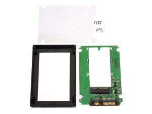 "mSATA Mini PCI-E SSD to 2.5"" SATA 22-Pin Converter Adapter with External Case"