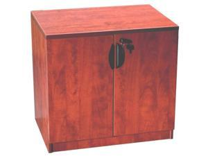 Boss Office Products Boss Storage Cabinet, Cherry N113-C