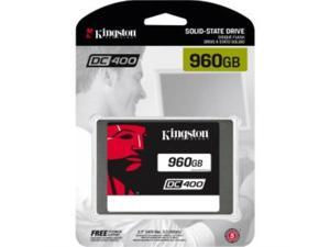 "Kingston SSDNow DC400 960 GB 2.5"" Internal Solid State Drive - SATA - 555 MB/s Maximum Read Transfer Rate - 520 MB/s Maximum Write Transfer Rate - Hot Pluggable 2.5 - SEDC400S37/960G"