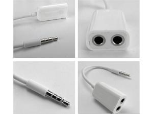 Bestdown 10 PCS 3.5mm Audio Splitter cable to 2 audio aux splitter adapter line cables for iPhone 5 4s Mobile Phone headphone ...