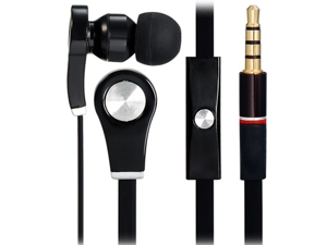 3.5mm Plug In-ear Stereo Earphones with Microphone & 1.1 m Flat Cable
