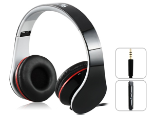 SOUND INTONE i50 3.5m Plug Foldable Stereo Headphones with Microphone & 1.5m Flat Cable