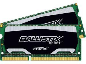 Crucial Ballistix Sport SODIMM 8GB (4GBx2) DDR3 PC3-14900 DDR3 1866MHz 204-pin Memory RAM