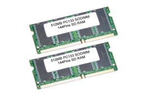 1GB 2*512MB SDRAM PC 133 144 Pin 3.3 V NO-ECC 133MHz LAPTOP SODIMM