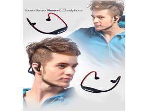 US Shipping Wireless Sports Bluetooth Handsfree Stereo  Earphone  for Iphone  Samsung  HTC LG Nokia-Blue