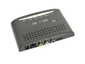 Vibob RCA Composite Video And S-video To HDMI Converter AV Adapter - R/L Audio - 1080P Scaler