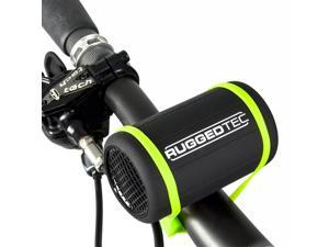 RuggedTec #StrapSound Rugged Water Resistant Bluetooth Speaker Small Portable Outdoor Wireless Bike Speaker, Black
