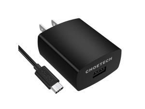 CHOETECH USB Wall Charger with Quick Charge 3.0 (USB C Cable Included) for Galaxy S8, S8 Plus, LG G6, G5, HTC 10, Samsung, iPhone, iPad and more