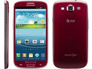 "Samsung Galaxy S3 I747 (Red) 16GB 4G LTE White AT&T Cell Phone 4.8"" 2GB RAM - New Phone"