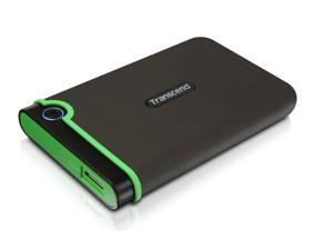 Transcend 2 TB USB 3.0 External Hard Drive - Military Drop Standards (TS2TSJ25M3)