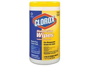 CLOROX 15948 Disinfecting Wipes, White, Lemon